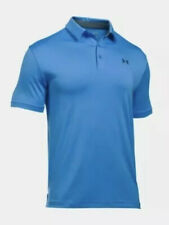 $65 Under Armour Golf Zone Playoff Men's Size 2Xl Polo Shirt Blue 1253479-466