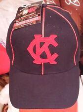 KANSAS CITY ROYALS MONARCHS BUCK O'NEIL KC ROYALS HAT CAP RED PINSTRIPE RARE SGA