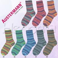 """100g Austermann Step 4-fach """" Flower Rainbow """" Sockenwolle Schöller + Stahl"""