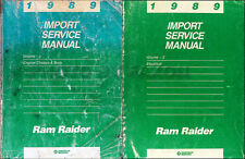 1989 Dodge Ram Raider Repair Shop Manual 2 Volume Set of OEM Service Manuals 89
