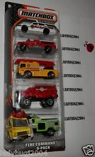 Matchbox 2014 FIRE COMMAND 5-PACK SEAGRAVE PUMPER, FIRE WATER TRUCK - SHIPS FREE