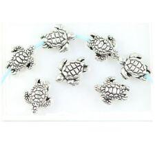 18 Tiny Sea Turtle Spacer Beads 9mm Beach Cruise Sea Life Turtles Ships Free