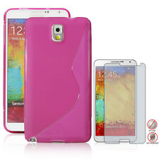 HotPink Ultra S TPU Case+ Matte Screen Protector for Samsung Galaxy Note 3 N9000