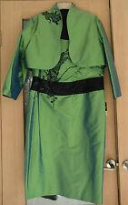 Linea Raffaelli Silk Pistache Green Mother of Bride Outfit size 46/ 14 - 16 New