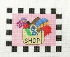 Maggie Small Shopping Theme Handpainted Needlepoint Canvas