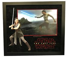 Daisy Ridley Signed STAR WARS THE LAST JEDI 18X12 Framed Photo Rey AFTAL COA