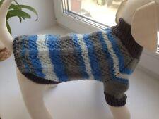 Handknit woolblend warm stripe Dog Sweater,Pet Clothing,Reglan coat,dog jacket,