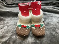 M&S Baby Toddler Christmas Slipper Boots BNWT Booties 12-24 Months