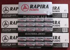 700 RAPIRA Platinum Lux Double Edge Razor Blades 7 packs 100 each Made in Russia