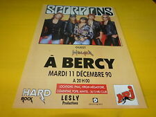 SCORPIONS - Publicité de magazine / Advert CONCERT 90 !!!