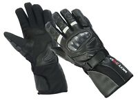 Waterproof  Windproof  Motorcycle Hard Knuckle Leather Gloves