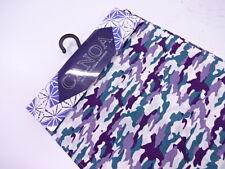 """NUOVO con etichetta giapponese Uomo Bianco/Malva/Verde """"Camouflage"""" COTONE Yukata Kimono// Vestaglia M/L"""