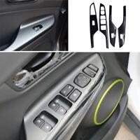 For Hyundai Encino Kona 2018-2021 Window Lock Lift Panel Trim Frame Black Steel