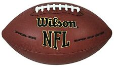New Official Size Nfl Football Super Grip Wilson Durable Composite Leather