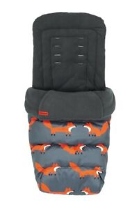 Brand new in bag Cosatto deluxe 2 in 1 Footmuff and Liner in Charcoal mister fox