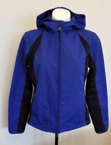 Champion Women's Sports Jacket size M Hooded Blue/Black