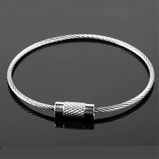 """1PCS 6.7"""" Rope Key Chains Ring Stainless Steel Wire Cable Keychain Loop DIY Tool"""