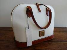 DOONEY & BOURKE WHITE Pebbled LEATHER ZIP ZIP BAG SATCHEL