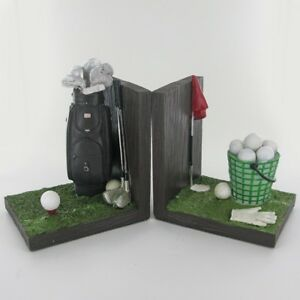 Golfing Book Ends Shelf Tidy Decorative Home Office Desk Shelf Organiser Gift