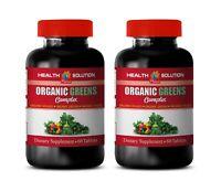 digestion anti bloating - ORGANIC GREENS PREMIUM COMPLEX - alfalfa meal 2Bottles