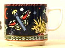 PAPILLON schwarz BOPLA Porzellan Espressotasse 0,09l stapelbar Schmetterling