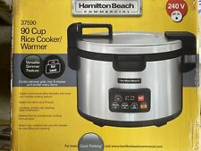 Hamilton Beach Commercial 90 Cup Rice Cooker Warmer Digital Control Silver 37590