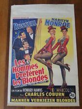 Affiche de cinéma - réédition 1980. Les hommes préfèrent les blondes