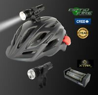 Opticfire® CREE XML LED T6-ZOOM rechargeable bike lights & cycle helmet light