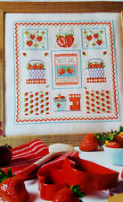 Summer Preserve Jam packed with Strawberries Cross Stitch Chart