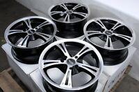"15"" Wheels Acura CL Integra Honda Accord Civic Miata Black Rims 4x100 Set 4"