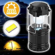 EASYmaxx Solar Camping Laterne 6 LEDs 3,6V Akku Schwarz 360° Bivvy Light Leuchte