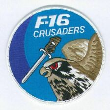 GENERAL DYNAMICS F-16 FIGHTING FALCON 523rd SQN SWIRL Iron-on Patch: CRUSADERS