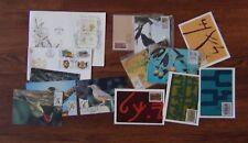 Venda 1979 1985 FDC Postcards Orchids M/S Writing Songbirds Food Writing Birds