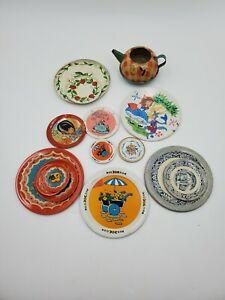 Ohio Art Tin Litho Tea Set Toy 20 Piece  Miscellaneous Lot