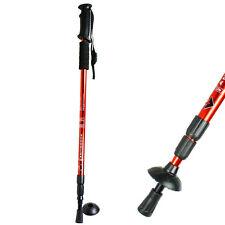 Anti-shock Walking Hiking Stick 3 Section Retractable Adjustable Trekking Stick