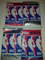 LOT OF Sixty (60) NEW AND UNOPENED 1990 - 91 Hoops NBA Basketball CARDS