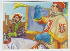 Original 1960 Gouache painting for Trading card Portugal Carlos Alberto Santos e
