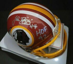 John Riggins Autographed Signed Washington Redskins Mini Helmet COA