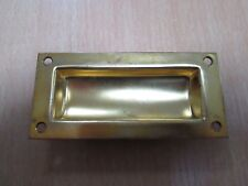 "FLUSH PULL Brass FLUSH FIT RECESSED SLIDE HANDLE 102mm(4"") Inset"