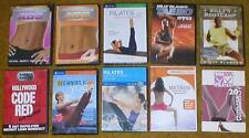 Wholesale Lot 10 Exercise/Fitness DVDs-Lotte Berk, Ana Caban, Winsor Pilates etc