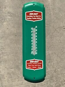 """Vintage Advertising Thermometer DUO-FAST Staples 5"""" x 17"""" Dealer Hardware Store"""