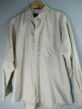 Sterling & Hunt Men's Size XL 17 32/33 Long Sleeve Button-Front Beige Shirt