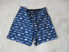 Nautica Swim Trunks Shorts Adult Large Fish All Over Print Bathing Suit Men