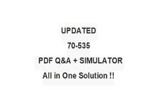 ARCHITECTING MICROSOFT AZURE SOLUTIONS (70-535)  EXAM QA PDF&Simulator