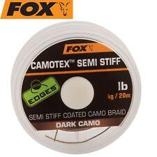 (1,00€/1m) Fox Camotex dark Semi Stiff 20m 35lbs 15,8kg - Vorfachschnur