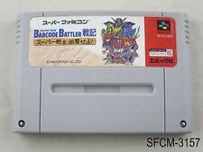 Barcode Battler Senki Conveni Wars Super Famicom Japanese Import SFC US Seller B