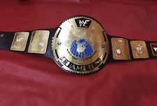WWF BIG EAGLE SCRATCH LOGO CHAMPIONSHIP BELT IN 4MM BRASS PLATES FREE SHIPPING!