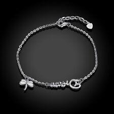 Damen Armband 925 Sterling Silber Schmuck, Dream Gravur, Schmetterling Liebelle