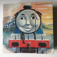 Vintage Thomas The Tank Engine Picture Block Puzzle Henry Fat Controller 1993