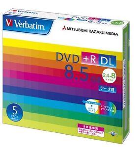 5 Verbatim Blank DVD+R 8.5GB DL DTR85HP5V1 with slim case